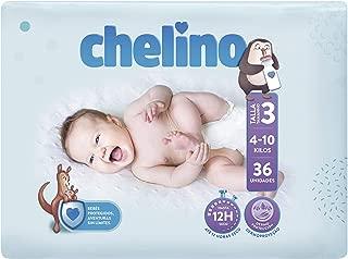 Chelino Fashion & Love, Talla 3, Pack de 6 (6 x 36 pañ