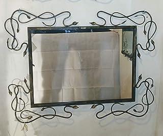 Specchio da Parete con cornice in ferro battuto, per Decorazioni Casa, Camera da Letto e Soggiorno | Specchio da Parete De...