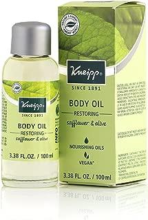 Kneipp Safflower and Olive Body Oil for Deep Moisture, Skin Restoring, 3.38 fl. Oz.