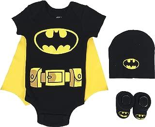 Baby Boy's Superman, Wonder Woman, Flash, Batman 3-pc Set in Gift Box Baby Costume