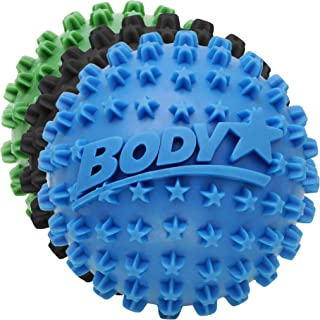 Body Back Body Star 2.5 Inch Spiky Foot Massager & Roller Ball Company - Deep Tissue Massage Ideal for Plantar Fasciitis Treatment, Back Pain Relief, Trigger Point & Myofascial Release