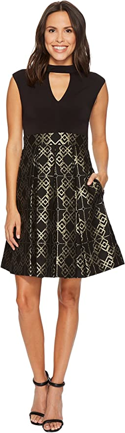Vince Camuto - Ity Top w/ Jacquard Pleated Skirt Dress