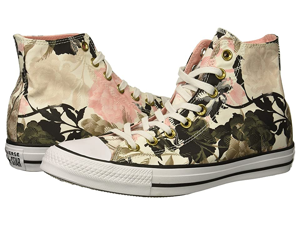 Converse Chuck Taylor All Star Floral Print Hi (White/Storm Pink/Black) Women