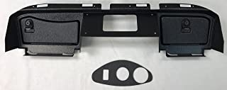 GMT Inc E-Z-Go RXV Full Golf Cart Dash in Black to Fit 2016 and up 2nd Generation RXV Cart (Will Not FIT 1st Generation RXV Cart) (Will Not Fit Any TXT Models) Includes 3 Hole Gauge Trim Plate