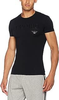 Men's Stretch Cotton Crew Lounge T-Shirt, Black