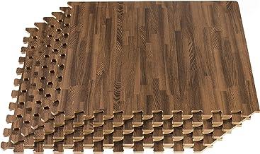 New Forest Floor 3/8 Inch Thick Printed Foam Tiles, Premium Wood Grain Interlocking Foam Floor Mats, Anti-Fatigue Flooring, 24 in x 24 in