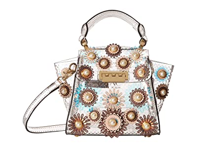 ZAC Zac Posen Eartha Mini Top-Handle Glass Color Block Floral (Apricot) Cross Body Handbags