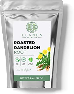 Roasted Dandelion Root Tea 8 oz. (227g), Contains Organic Non-GMO Roasted Dandelion Root in Non-BPA Packagi...