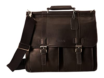Kenneth Cole Reaction Colombian Leather Dowel Rod/Portfolio Computer Case (Black) Briefcase Bags