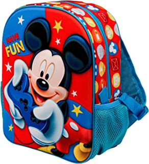 Mickey Mouse Gamer-Mochila 3D (Pequeña), Multicolor