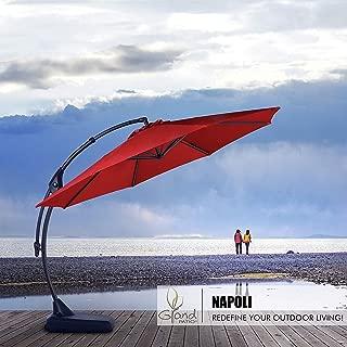 black cantilever patio umbrella