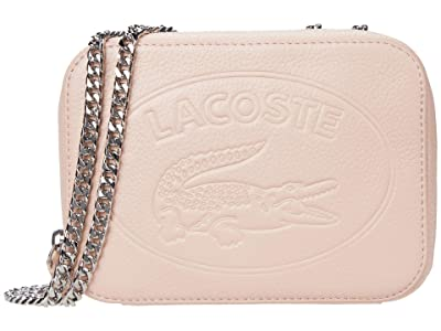 Lacoste Croco Crew Crossover Bag (Chlorophyll/Navy Blue/White) Cross Body Handbags