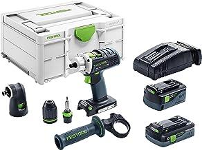 Taladro con batería FESTOOL, DRC 18/4Li 5,2set, 18V/5,2Ah, IEC iones de litio, 1unidad, 574697