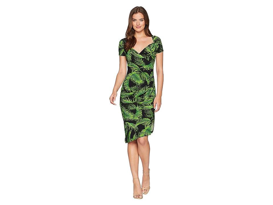 KAMALIKULTURE by Norma Kamali Sweetheart Side Drape Dress (Palm Leaf) Women