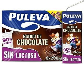 Puleva Batido de Chocolate Sin Lactosa  - Pack de 6 x 200 ml - Total: 1200 ml