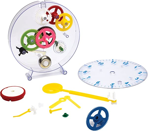 MukikiM Happy Puzzle Company The Amazing Clock Kit Construct Your Own Colorful Real Working Clock Educational Toy That Teaches How Clocks Work And Doubles As An Actual Wind Up Clock