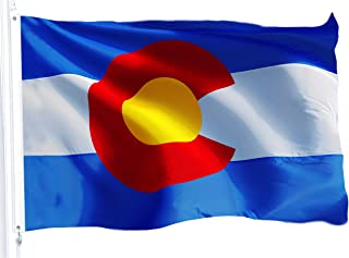 G128 – Colorado State Flag | 3x5 feet | Printed 150D – Indoor/Outdoor, Brass Grommets, Quality Polyester Flag, Much Thicker More Durable Than 100D 75D Polyester