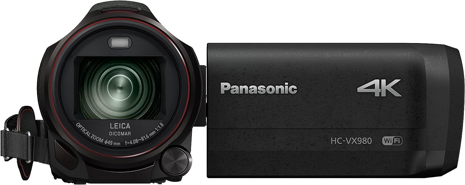 Panasonic HC-VX980EG-K - Videocámara de 18.91 MP (MOS BSI 25.4/2.3 mm (1/2.3) 4.08-81.6 mm tarjeta de memoria 4K Ultra HD) Color Negro (versión importada)