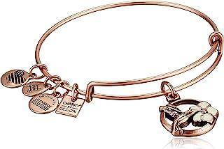 Alex and Ani Women's Hummingbird II Bracelet, Rafaelian Antique Rose, Expandable