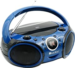 SINGING WOOD CD, CD-R/RW Boombox Portable/w Bluetooth Player AM/FM Radio Aux Input,..