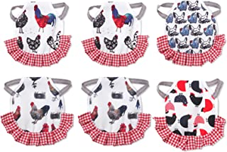 6 Pack Chicken Saddle Set, Chicken Jacket Straps Hen Apron with Elasticity Straps Poultry Protector Apron Suit for Small, Medium and Large Hens