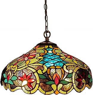 Chloe Lighting CH1A674VB18-DH2 Leslie Tiffany-Style Victorian 2-Light Ceiling Pendant Fixture, 12 x 18 x 18