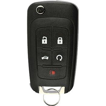 Amazon Com Keyless2go New Keyless Remote 5 Button Flip Car Key