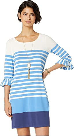 Resort White Sweet Pea Engineered Stripe Dress