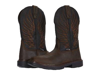 Wolverine Stockman DuraShocks CarbonMAX Wellington Work Boot (Black/Brown) Men