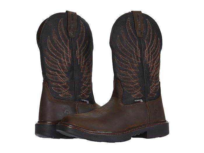 Wolverine  Stockman DuraShocks CarbonMAX Wellington Work Boot (Black/Brown) Mens Work Lace-up Boots