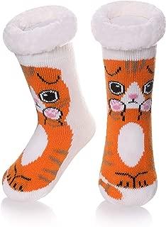 Boys Girls Cute Unicorn Slipper Socks Fuzzy Soft Animal Warm Thick Fleece lined Winter Kids Toddlers Christmas Home Socks