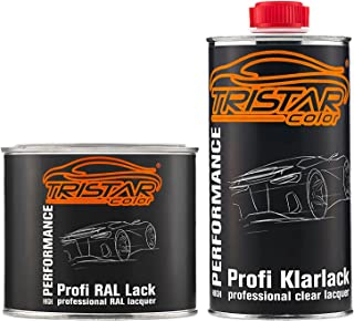 TRISTARcolor RAL 9006 Weissaluminium Metallic Autolack glänzend Dose inkl. Klarlack 1,0 Liter / 1000 ml