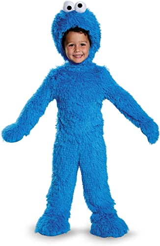 Disguise 76873S Cookie Monster Extra Deluxe Plush Costume, Small (2T) by Disguise
