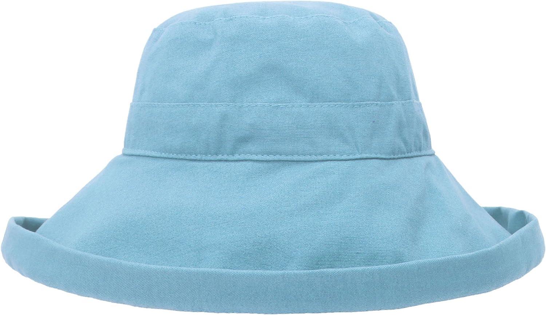 EPGU Women's Spring Summer 100% Cotton Beach & Garden Foldable Bucket Hat