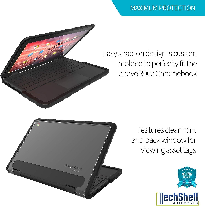 Gumdrop DropTech Case Designed for Lenovo 300e Gen 1 Chromebook Laptop for K-12 Students Rugged Black Shock Absorbing Teachers Kids Extreme Drop Protection