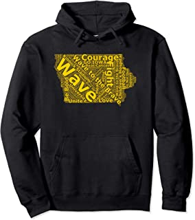 Iowa Wave to the Brave Sick Children's Hospital Word Cloud Pullover Hoodie