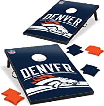 Wild Sports Denver Broncos NFL Cornhole Outdoor Game Set, 2' x 3' Foot - Recreational Series, Tailgate Toss