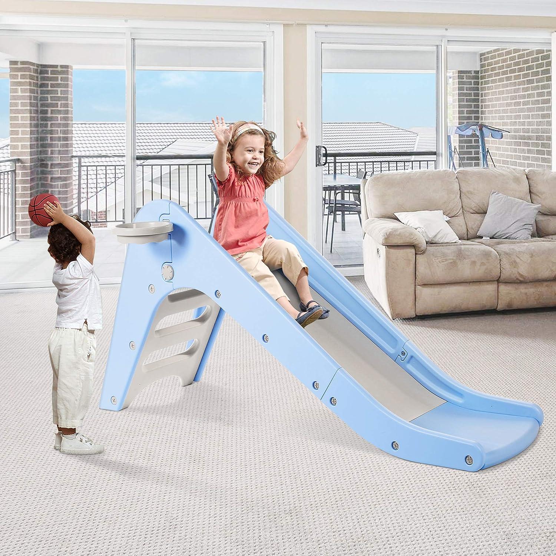 WELSPO Freestanding Slides for Kids, Baby Slide Indoor/Outdoor C