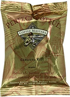 Coffee Masters Perfect Potful Caramel Kiss Ground Coffee, 1.5-Ounce Packets (Pack of 12)