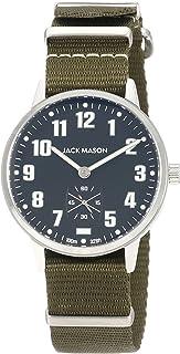 Jack Mason Watch Field Sub Second 38mm SS Black Dial Olive NATO Strap