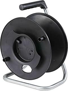 as – Schwabe 12121 Storage Reel Empty, for Cable, Hose, Tube, Wire, Braid, line-Ø 285mm, Black, Up to 50m
