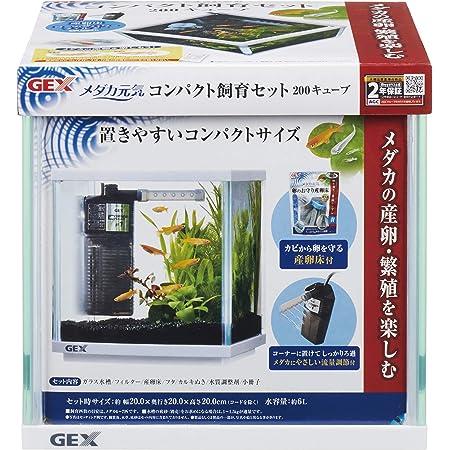 ジェックス メダカ元気 コンパクト飼育セット200キューブ メダカにやさしい水流調節付きフィルター付 20x20x20センチメートル (x 1)