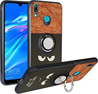Alapmk Case for Huawei Y7 2019,[Pattern Design] with Kickstand Fit Magnetic Car Mount, Shockproof TPU Protective Case Cove...