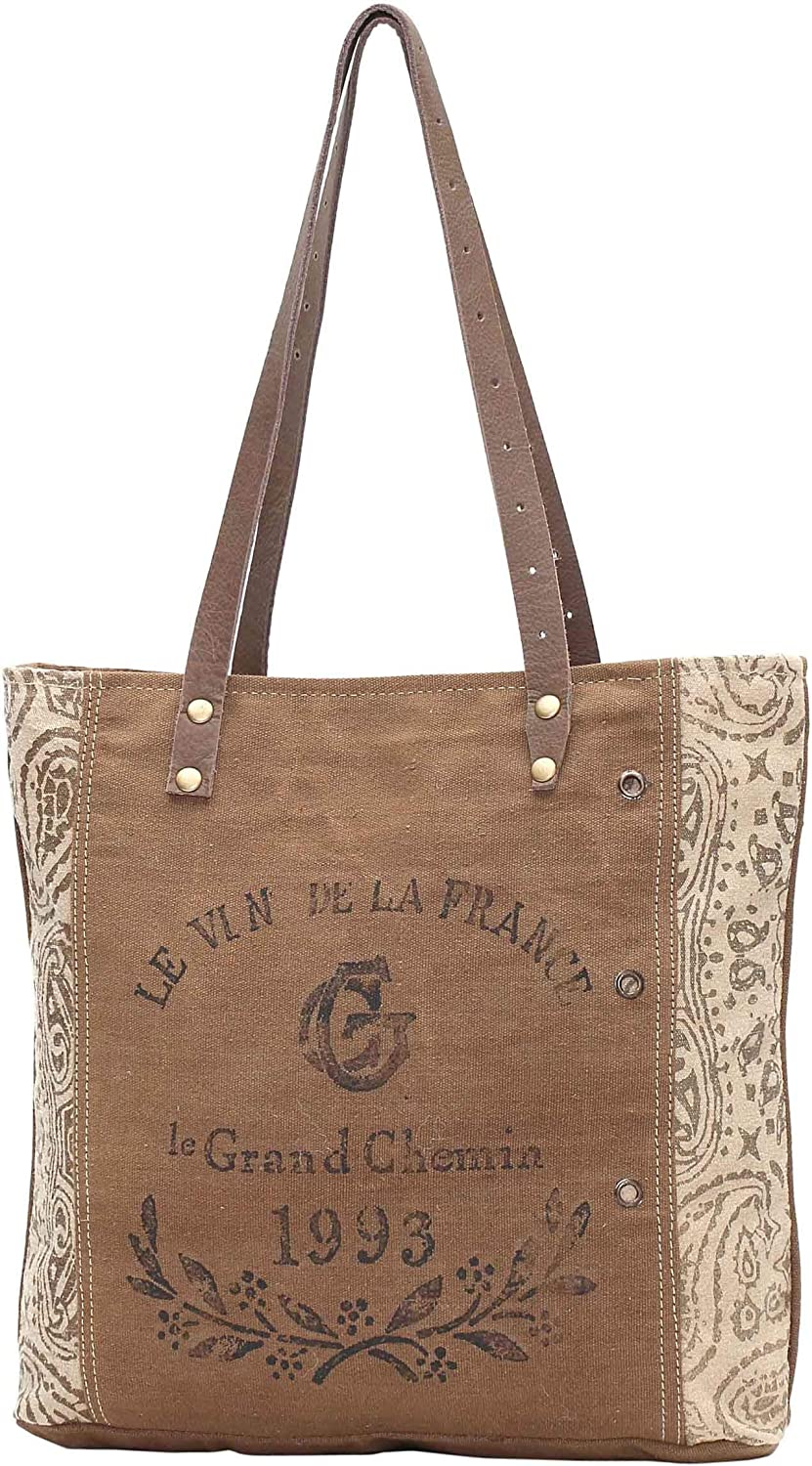 Myra Bags 1933 Upcycled Canvas Tote Bag M0936
