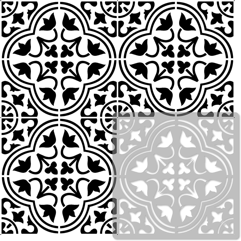 moro tile reusable plastic stencil moroccan geometric floor wall 13x13
