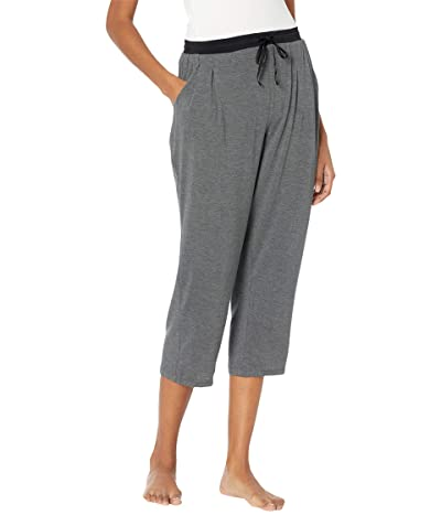 Donna Karan Sleepwear Modal Spandex Jersey Capri Pants