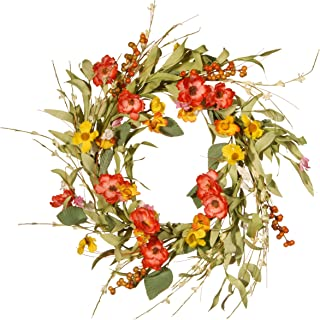 National Tree 22 Inches Spring Flower Wreath