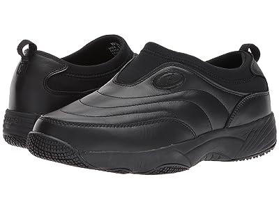Propet Wash Wear Slip-On II (Black Leather) Women