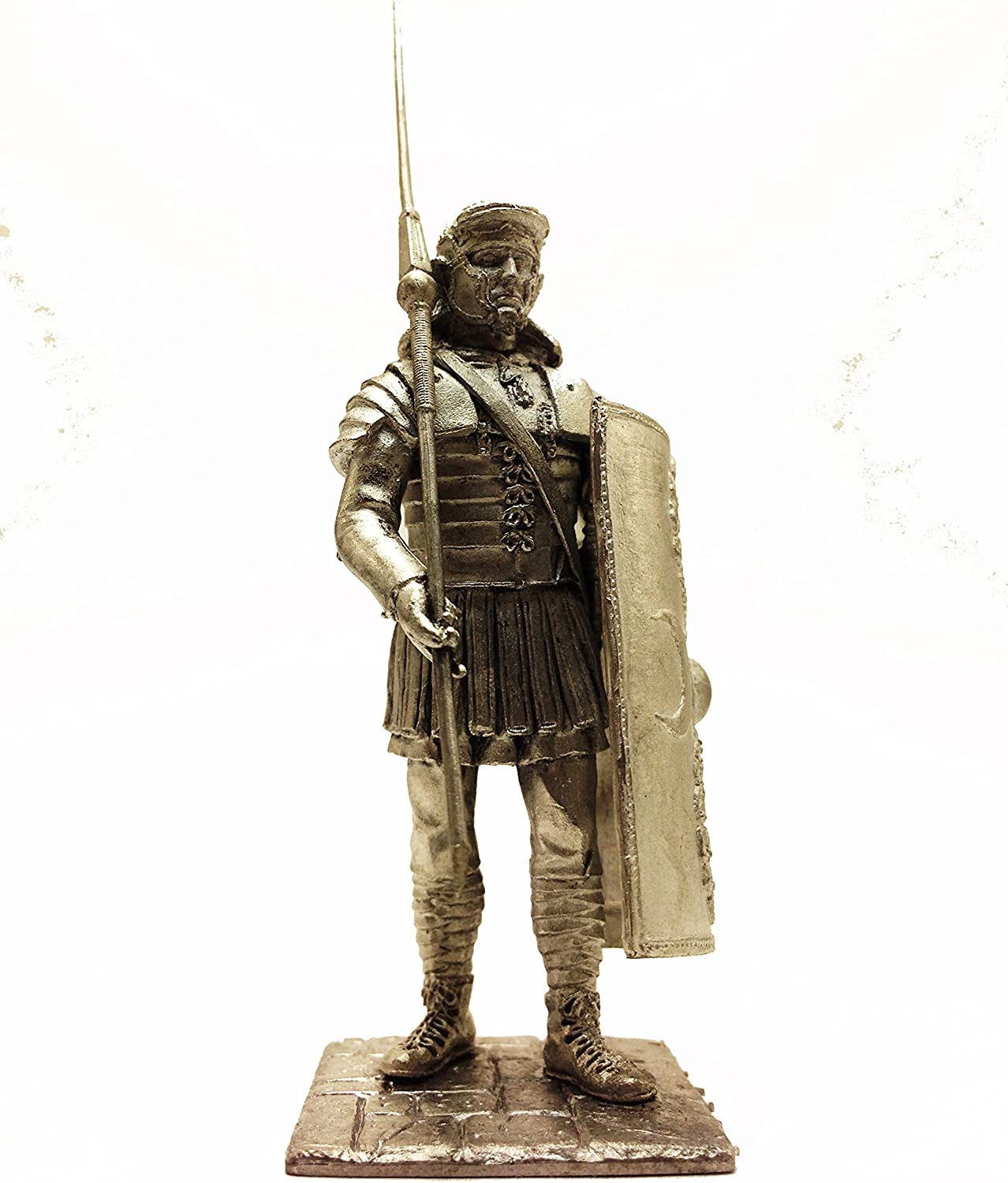 Military-Historical Miniatures Roman. Legionnaire on Parade 200 AD Tin Metal 54mm Action Figures Toy Soldiers Size 1 32 Scale for Home Décor Accents Collectible Figurines Item  C5162