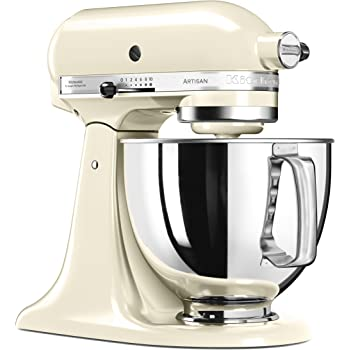 KitchenAid 5KSM125 EA Cream Artisan 5KSM125EAC-Robot de Cocina, tazón de 4.8 L, Color Crema, 300 W, 4.8 litros, 70 Decibelios: Amazon.es: Hogar